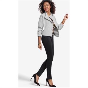 CAbi Windowpane Black & White Moto Jacket Blazer